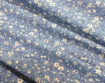 cotton fabric Mille Fleur Liberty blue white Patchwork Quilt