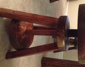 Hand made swiveling stool
