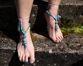 "Barefoot sandals ""Silver ball"""