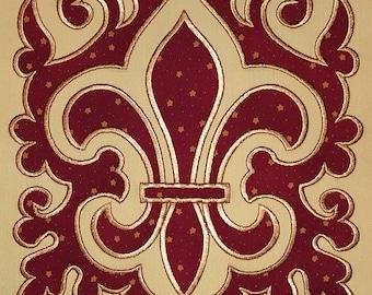 Fleur de Lis, Applique, Machine  embroidery design,  Fleur de Lis embroidery, Fleur de Lis Applique, Instant Download
