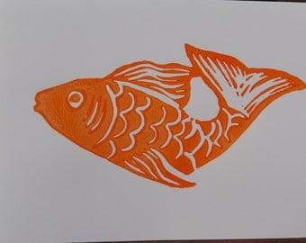 Orange Fish (Gift Card )