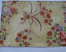 Set of 4 placemats,  reversible placemats, oriental placemats, linens,cloth placemats, gift, birthday gift