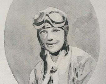 Amelia Earhart Mini-Print