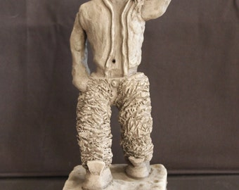 Clay Sculpture - Reggae Man / Sculpture en terre - Reggae mec