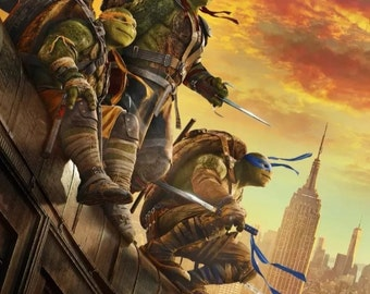 Teenage mutant ninja turtles Giclee print movie poster **free shipping**