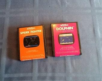 Two Activision Atari Video Games