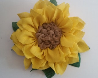 Large  yellow sunflower Wreath