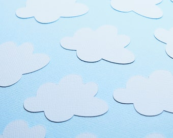 Baby Shower Decoration, Cloud Shape Confetti, Up Up and Away theme, cloud theme baby shower, baby shower confetti, Heaven Sent Party Decor