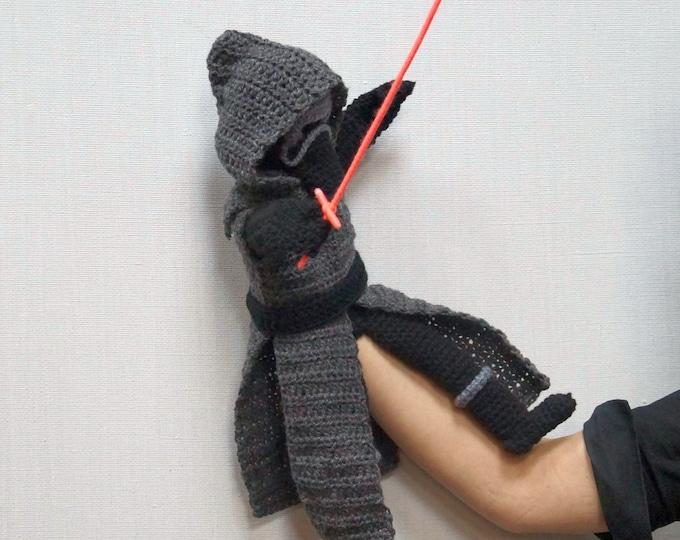Kylo Ren, Crochet Pattern PDF, Star Wars, Amigurumi Pattern, Hand Puppet, Puppet, Finger Puppet, Amigurumi, Nerd Gift, Geeky Gift, Yoda, PDF