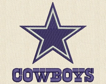 Dallas Cowboys NFL Football Logo Fill Embroidery Design