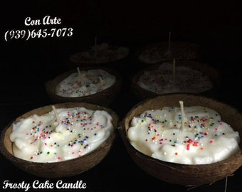Birthday Cake Coconut Shell Candle