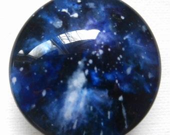Custom One of a Kind Handmade Furniture/Cabinet knobs-Blue Galaxy
