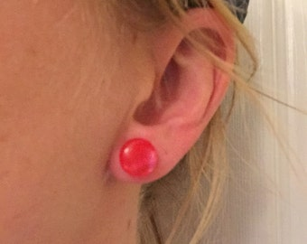 Tiny button earrings!