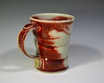 Copper Red Porcelain Mug - 8oz