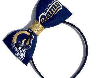 LA Rams Glitter Bow