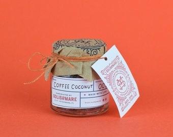 Coffee Coconut Sugar Scrub // Exfoliating scrub // help cellulite and stretch marks // bridesmaid gifts // wedding favors