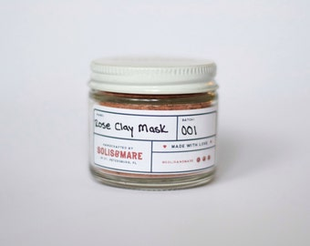 Rose Clay Mask // Rosehip Mask // Rose Water and Geranium essential oils // bridesmaid gifts // wedding favors