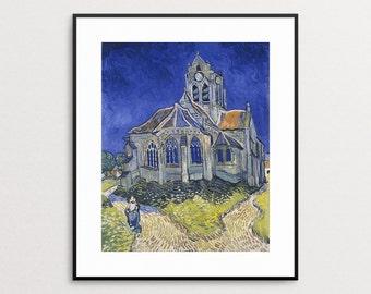 Van Gogh - The Church in Auvers-Sur-Oise View from the Chevet 1890 -  Van Gogh Church - Van Gogh Print - Van Gogh Art - Van Gogh Painting