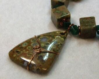 Spotted Jasper Stone Necklace