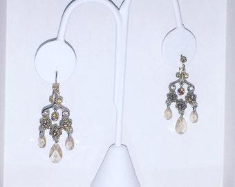 Vintage Champagne Dangle Earrings