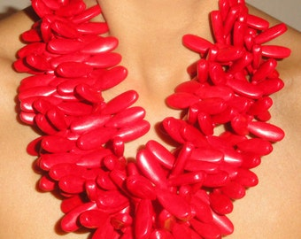 Red Petal Necklace