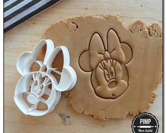 Cookie Cutter 3D Minnie Mouse's head