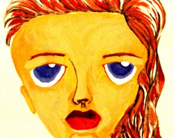 Abstract Girl Acrylic/Oil Painting - Print