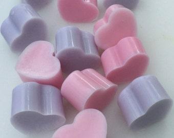Wedding Favor Soap Mini Shea Butter Heart Soaps for Wedding Favors, Bridal Shower, Bridesmaid Gift, Bachelorette Party, Valentine's Day Soap