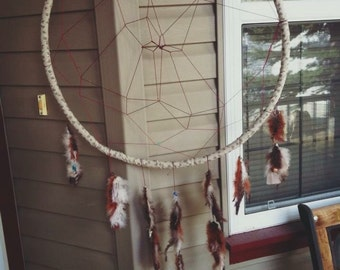 Handmade repurposed dream catcher