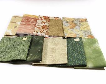 10 x Vintage 1 fat Quarter Fabric 100% cotton mixed Designs