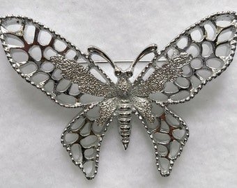 Sarah Coventry Singed Butterfly Brooch