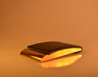 Gold 24-karat Plated Business Card Holder