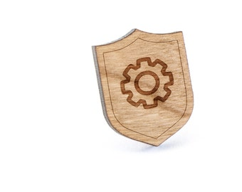 Gear Lapel Pin, Wooden Pin, Wooden Lapel, Gift For Him or Her, Wedding Gifts, Groomsman Gifts, and Personalized