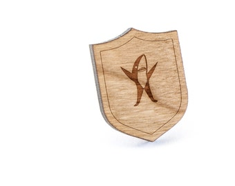 Sharks Lapel Pin, Wooden Pin, Wooden Lapel, Gift For Him or Her, Wedding Gifts, Groomsman Gifts, and Personalized