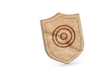 Circles Lapel Pin, Wooden Pin, Wooden Lapel, Gift For Him or Her, Wedding Gifts, Groomsman Gifts, and Personalized