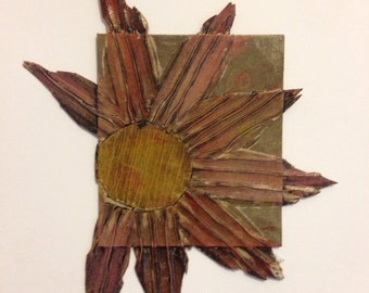 Flower monoprinting block
