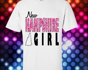 New Hampshire Girl tshirt Souvenir