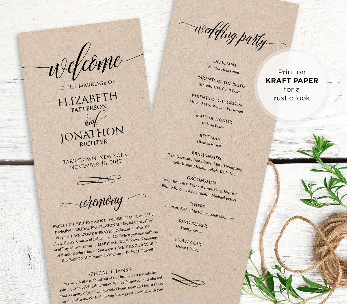 Lucrative image pertaining to printable wedding program