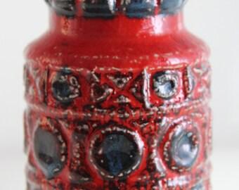 Amazing BAY 92 14 vase - West German Pottery - Fat Lava