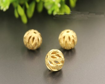 5 pieces 12 MM Copper cute Beads gold plated , high quality Pendant bead , bead for bracelet , Kawaii beads , Beaded jewelry (212-91)