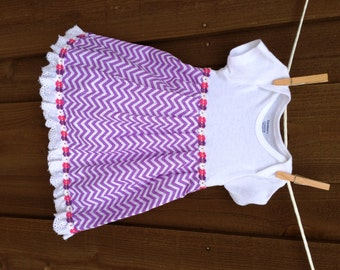 Onesie dress for 3-6 month old.