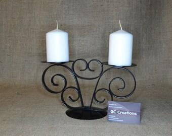 2 pillar metal candelabra