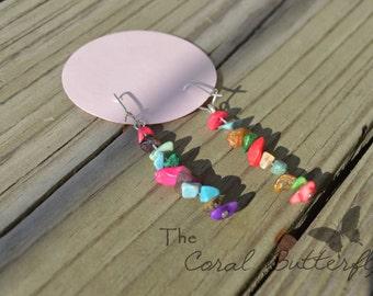 bead chip earrings