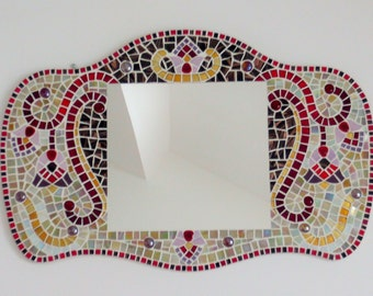 Mirror mosaic Floral Art nouveau style
