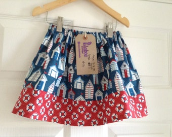 Nautical beach hut skirt