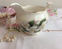Pretty Bone China Milk Jug: Crown Royal Michelmas design 1960s