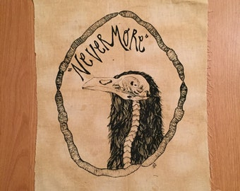 Nevermore Raven Backpatch