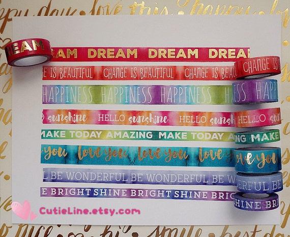 Recuerdos Washi Tapes tubos  Color Splash  8 por CutieLine en Etsy