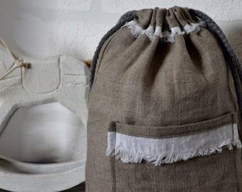 Natural linen gift bag, linen bag, favor bag, gift bag, wedding bag, Christmas linen gift bags, special occasion bags, candy bag