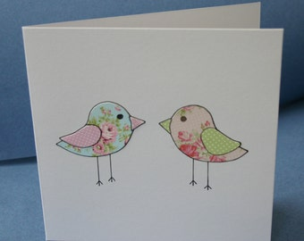 Handmade card - birds